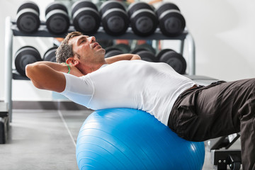 Man Doing Exercises for Abdominal