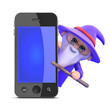 Wizard with smartphone