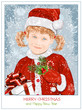 Girl  in Santa Claus clothes