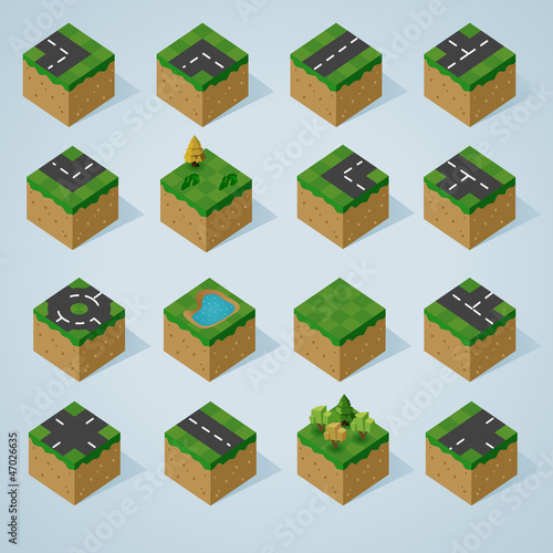 Complete Isometric Tiles series