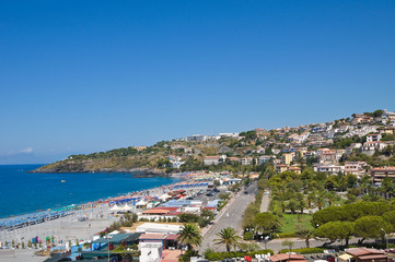 Panoramic view of Scalea. Calabria. Italy.