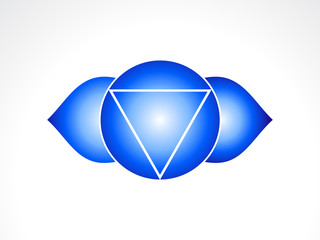 abstract third eye chakra