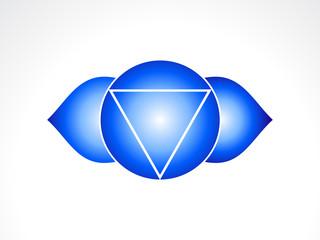 abstract third eye chakra