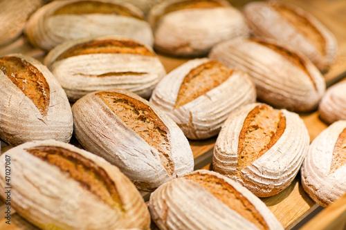 Rye bread in hypermarket