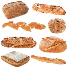 group of breads