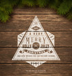 Vintage Typography Sign Over W...