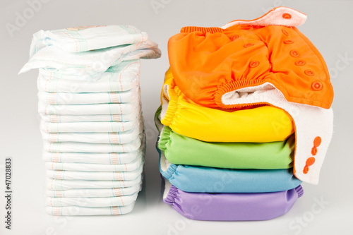 canvas print picture Eco friendly diapers and pampers