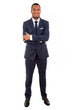 Full length of a young African American business man standing on