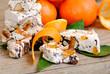 Nougat or turron traditional italian holidays sweets