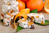 Nougat or turron traditional italian holidays sweets