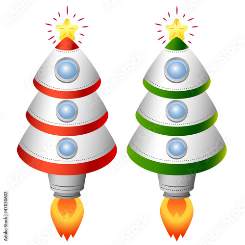Christmas tree rocket