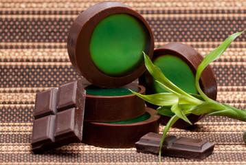 sabonete de chocolate e menta