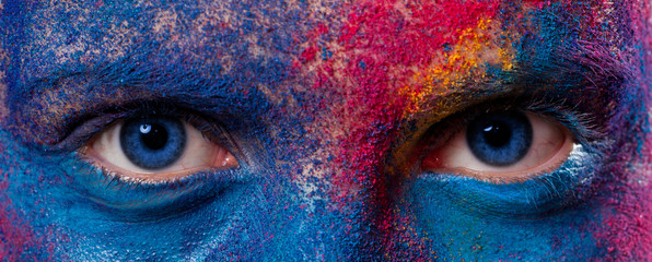 Eyes of woman with paint make-up