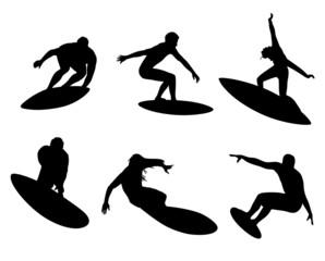 six surfers