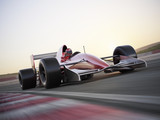 Indy car racer with blurred background