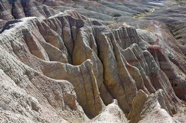 Felsen in den Badlands