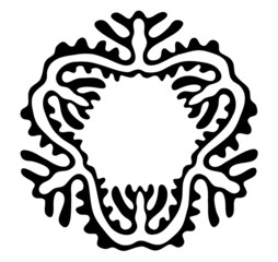 vector ethnic ornament on white