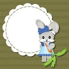 decor scrapbook frame with nice hare