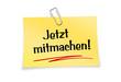 Gelber Notizzettel mit Büroklammer - Jetzt mitmachen!