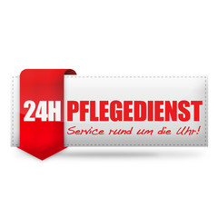 24H Pflegedienst! Button, Icon