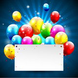 Fototapety Modern birthday background with place for text