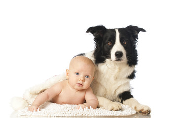 Baby with dog - Baby mit Hund