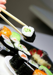 Mix of sushi specialties