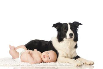 Baby with Dog - Baby mit Hund