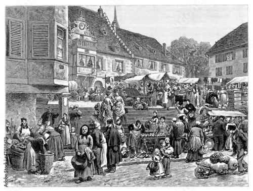 Rural Market - 19th century