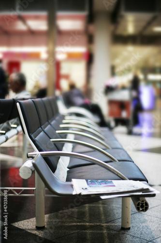Wartebank am Flughafen