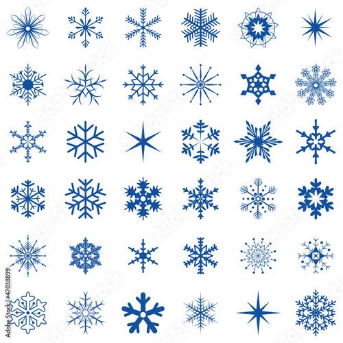 36 Schneeflocken