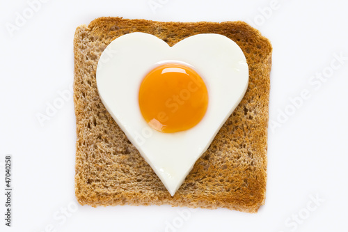 cooked egg on toast