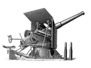Militaria : Cannon - end 19th