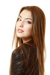 Portait of beautiful young woman