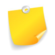 Blank yellow sticker, vector illustration