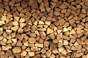 Abstract firewood background