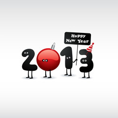 Funny 2013 New Year's Eve greeting card