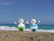 snowman beach vacation