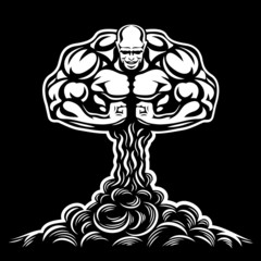 Nuclear explosion bodybuilder
