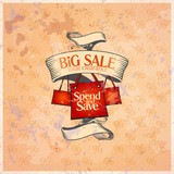 Big sale retro design template.