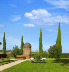 Tuscany garden by montepulciano