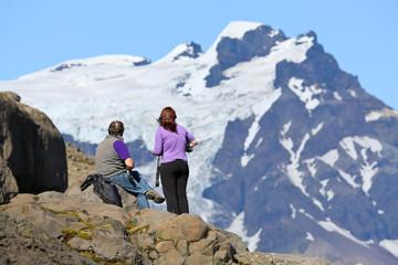 Randonneurs et montagne
