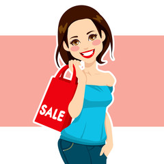 Woman Shopping Sales