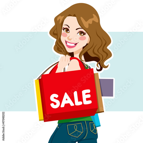 Sale Shopper Woman