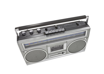 Retro Boom Box Portable Stereo Isolated