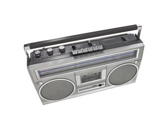 Retro Boom Box Portable Stereo Isolated