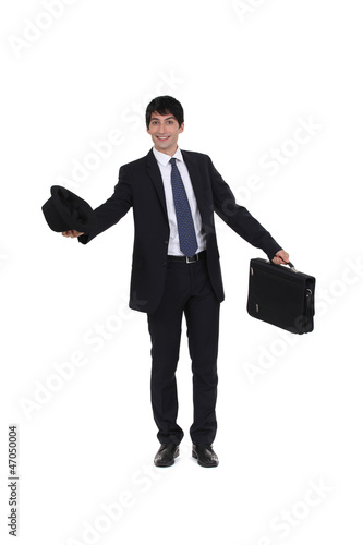 Joyful businessman