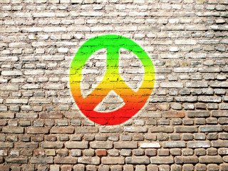 rasta peace signe graffiti