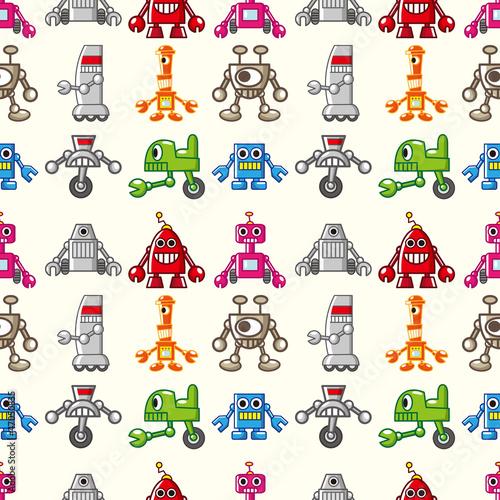 Keuken foto achterwand Robots seamless Robot pattern