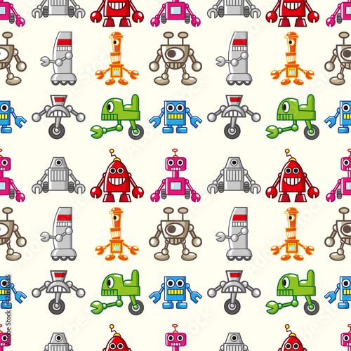 Papiers peints Robots seamless Robot pattern
